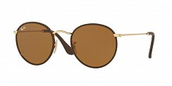 Ray-Ban Round Craft  RB3475Q 9041 Leather Brown