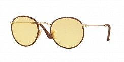 Ray-Ban Round Craft  RB3475Q 90424A Leather Light Brown