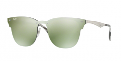 Ray-Ban Blaze Clubmaster RB3576N 042/30 Brusched Silver