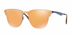 Ray-Ban Blaze Clubmaster RB3576N 90377J Brusched Blue