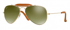 Ray-Ban Zonnebril RB3422Q 001/M9 Arista/Light Brown Leather