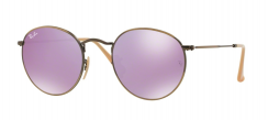 Ray-Ban Round Metal RB3447 167/4K Demiglos Brusched Bronze