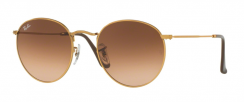 Ray-Ban Round Metal RB3447 9001A5 Shiny Light Bronze