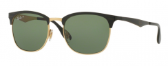 Ray-Ban RB3538 187/9A Top Shiny Black On Gold