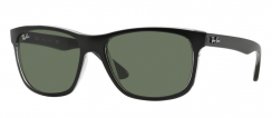 Ray-Ban Highstreet RB4181 6130 Top Matte Black On Trasp Grey