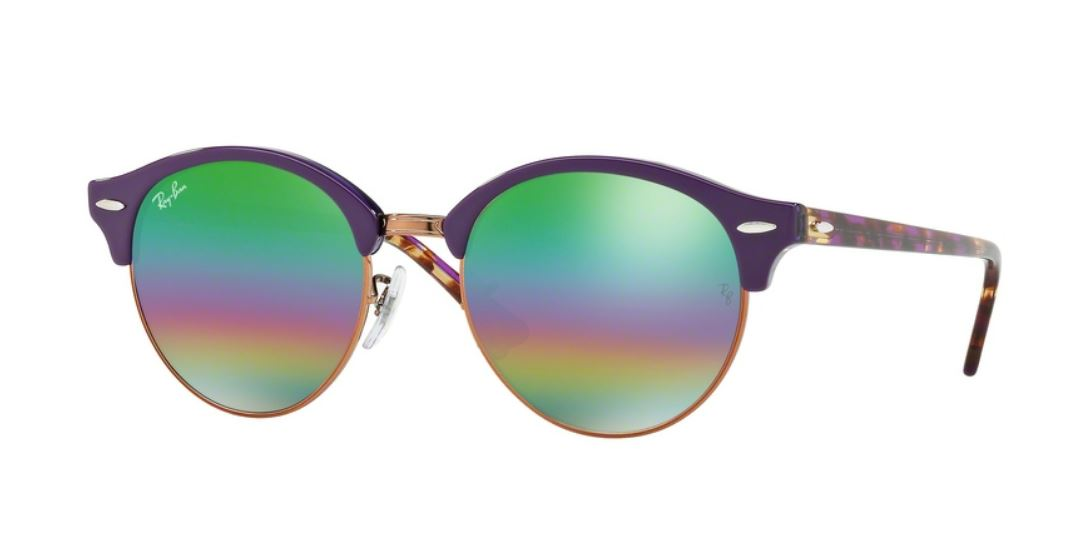 Ray-Ban Clubround RB4246 1221C3 Top Violet On Trasparent Viole