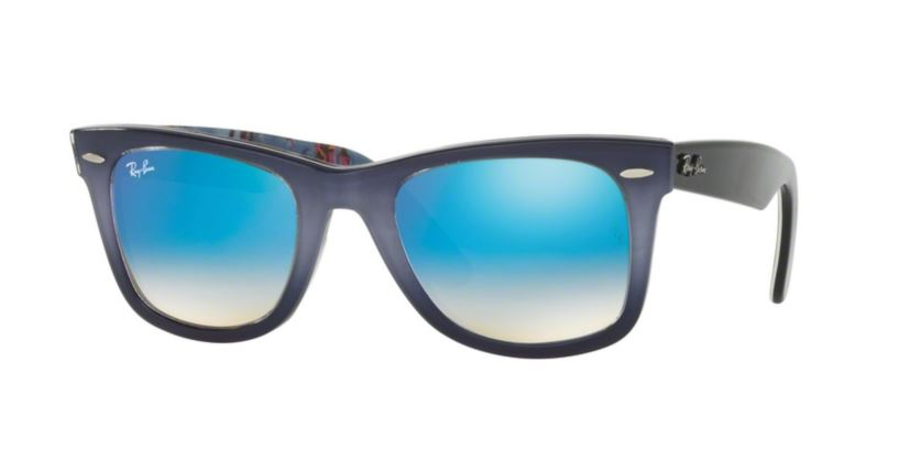 Ray-Ban Wayfarer RB2140 11984O Top Grad Grey On Blue