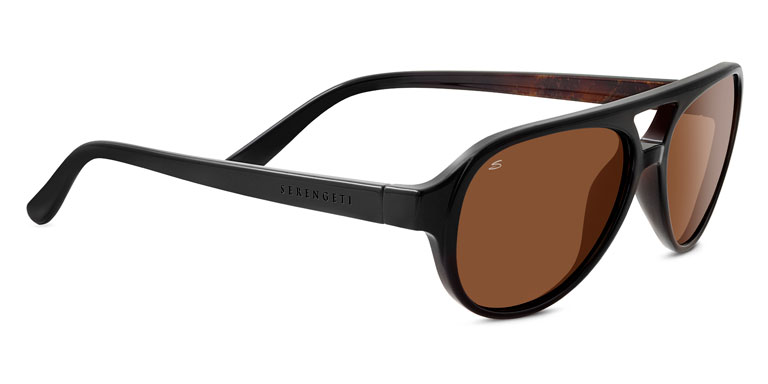 Serengeti Giorgio 8182 Shiny Black Brown Wood