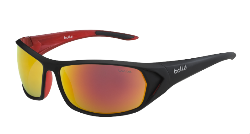 Bollé Zonnebril Blacktail 12029 Shiny Anthracite/Red