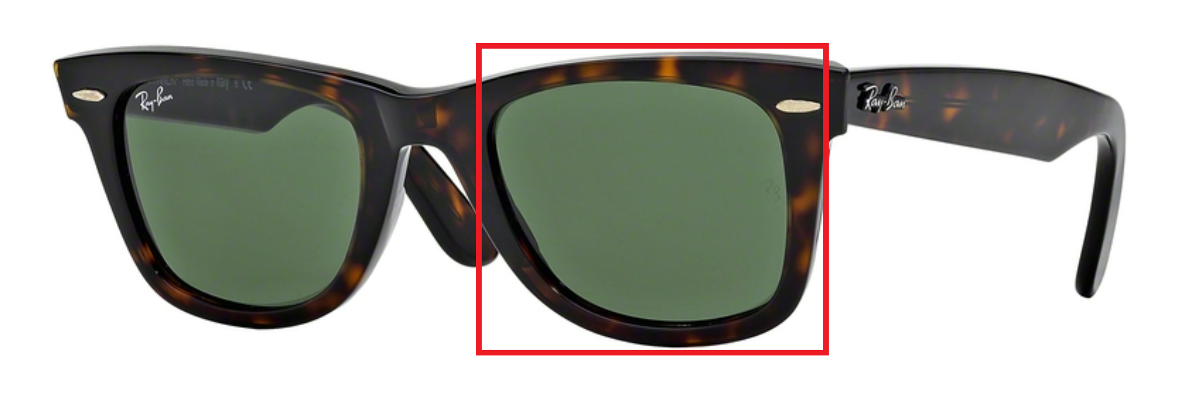 50953b2c7c4b01 Glazen Ray-Ban zonnebril