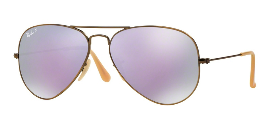 Ray-Ban Zonnebril Aviator RB3025 167/1R Brushed Bronze Demishiny