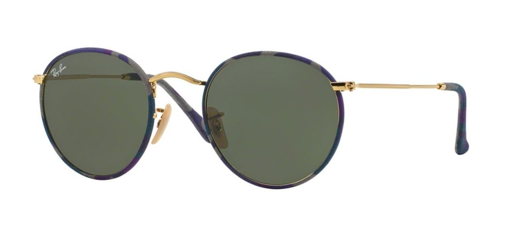 Ray-Ban Round Metal RB3447JM 172 Camouflage Violet/Blue