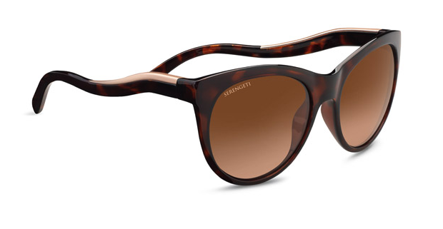 Serengeti Valentina 8567 Shiny Dark tortoise/Satin Rose Gold